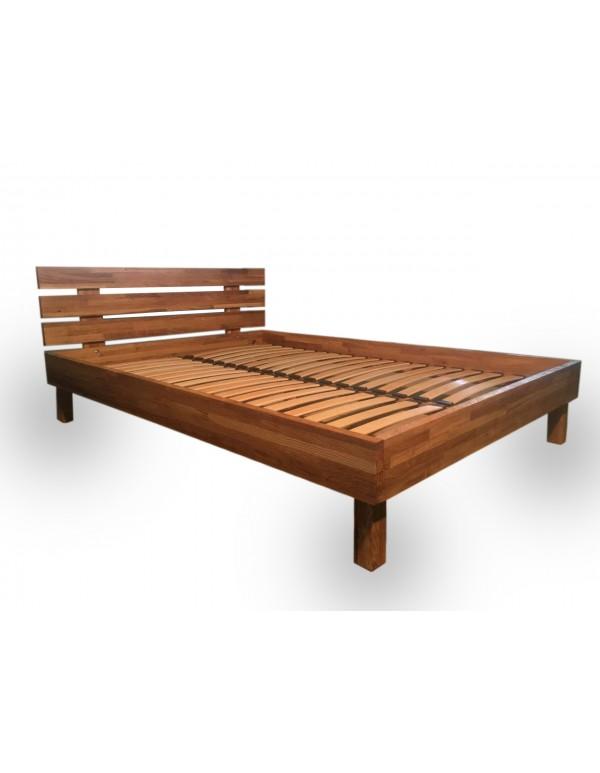 """Wooden bed """"Loft"""" natural oak with brushed"""