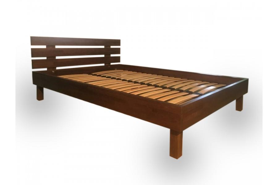 "Wooden bed ""Loft"" natural oak dark"