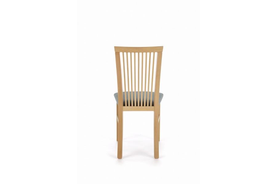 "Chair ""Angelo"" walnut light, dark upholstery"