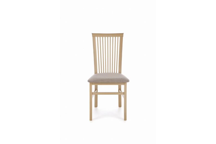 "Chair ""Angelo"" walnut light, gray upholstery"