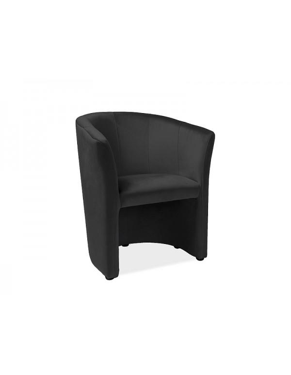 "Single chair ""Fotel ТМ-1 Signal"" black"