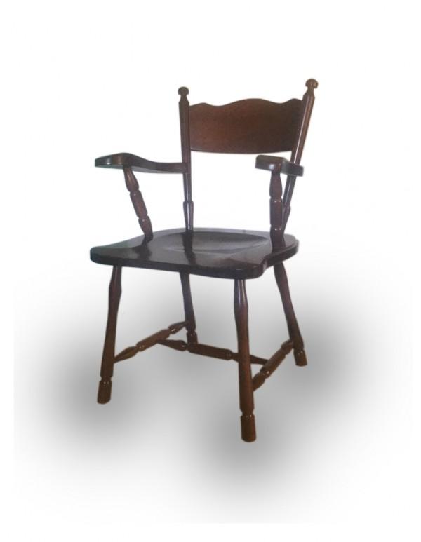 """Wooden chair """"Ludovik"""" dark walnut"""