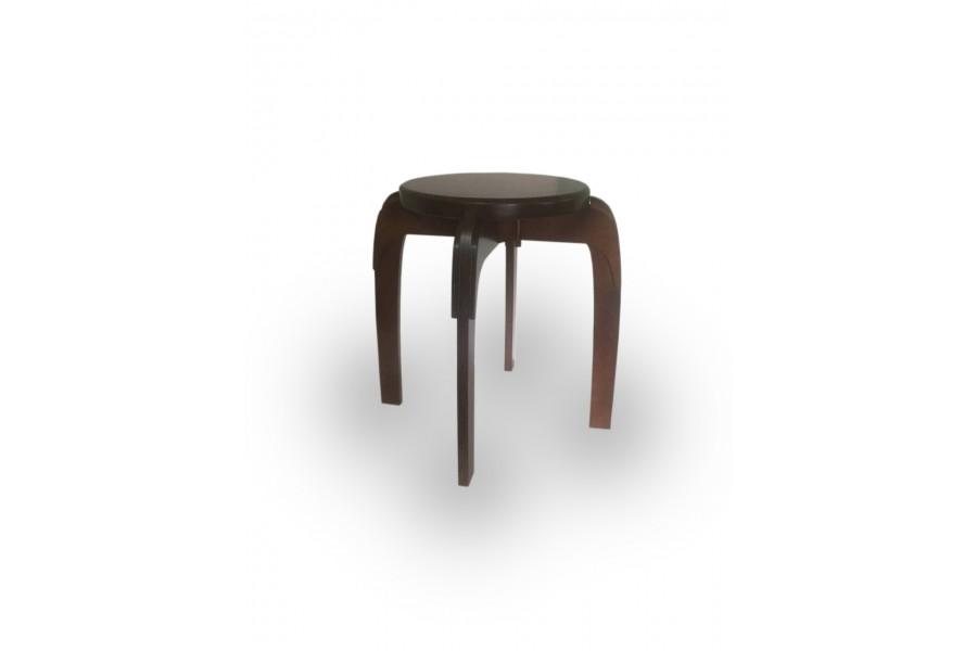 "Stool wooden reinforced round ""Loter"" 45x45 walnut"