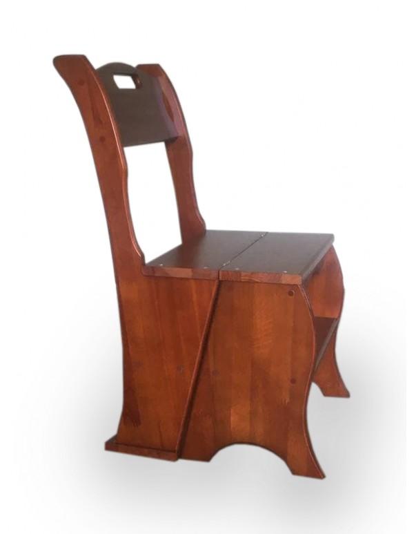 "Wooden chair-ladder ""Transformer"" mahogany"